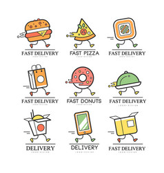 fast delivery logo design creative template vector image