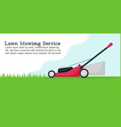 Flat lawn mower modern vector