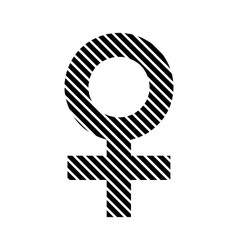 Gender female symbol sign vector