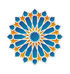 Geometrical islamic ornament rosette vector