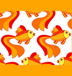 gold fish pattern vector image