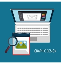 graphic design concept vector image