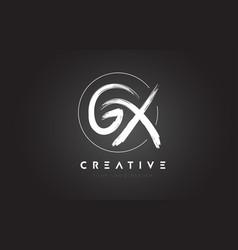 Gx brush letter logo design artistic handwritten vector