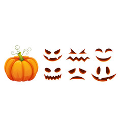 halloween pumpkin faces generator cartoon vector image