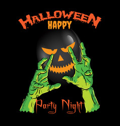 Happy halloween party night t-shirt vector