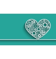 Heart with gears vector