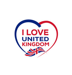 I love united kingdom vector