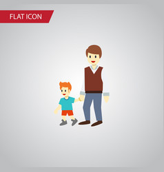 Isolated brothers flat icon boys element vector