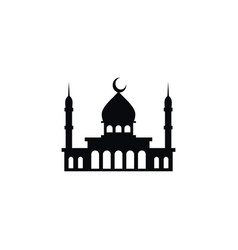 isolated minaret icon islam element can be vector image