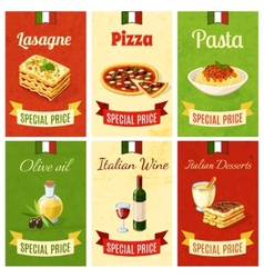 Italian food mini poster vector