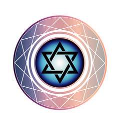 jewish star of david vector image