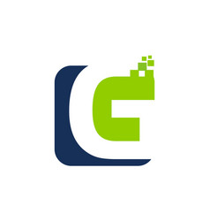 Letter g digital technology vector