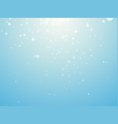 light blue background with snowflakes vector image
