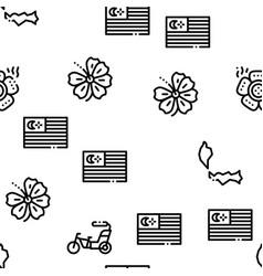 Malaysia national seamless pattern vector