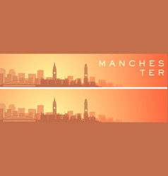 manchester beautiful skyline scenery banner vector image