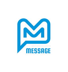 message - speech bubbles logo concept vector image