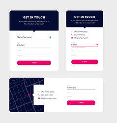 Modern contact forms material design vector