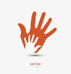 Modern hands icon on white background vector