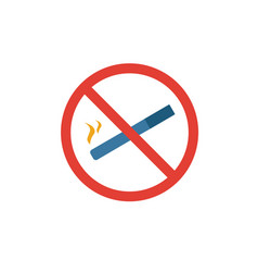 no smoking icon simple flat element from fire vector image