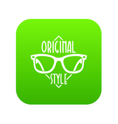 original style icon green vector image