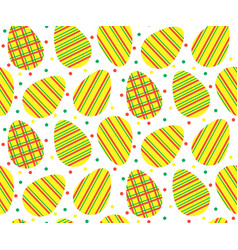 Pattern striped eggs1 vector