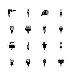 plug - flat icons vector image