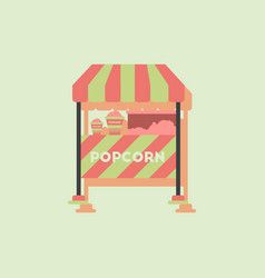 Popcorn shop in sticker style vector