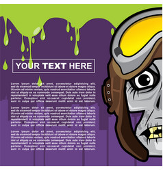 Poster design with zombie theme vector