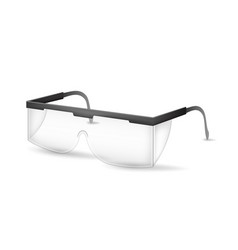 realistic detailed 3d plastic safety glasses vector image