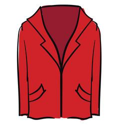 red blazer on white background vector image