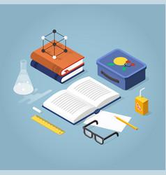 School homework isometric vector