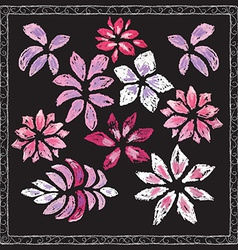 Set of hand drawn flowers vector