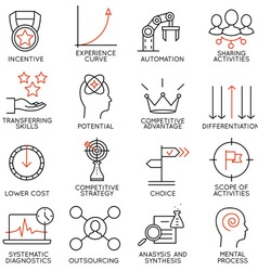 Set of icons related to business management - 4 vector