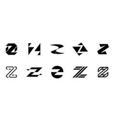 set of letter z logo vector image
