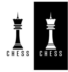 simple chess figure queen design template vector image