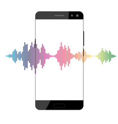 smartphone and equalizer vector image