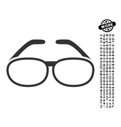 Spectacles icon with professional bonus vector