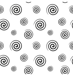 Spiral monochrome seamless texture vector