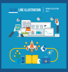 start up business and finance strategy marketing vector image
