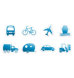 stickers transportation vector image