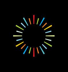 sun ray logo colorful vector image