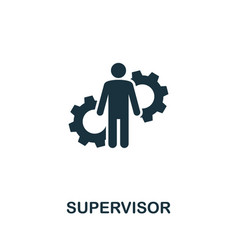 Supervisor icon creative element from business vector