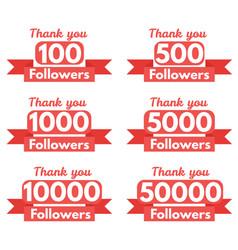 Thank you followers vector