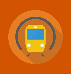 Transportation Flat Icon Subway vector image