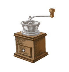 vintage manual hand drawn coffee mill vector image