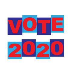 vote blue red graphic typography vector image