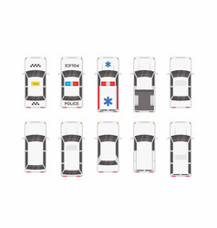 White different cars top view vector