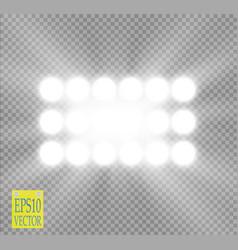 white spotlight light effect on transparent vector image