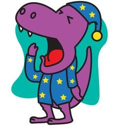 Yawn Dinosaur vector