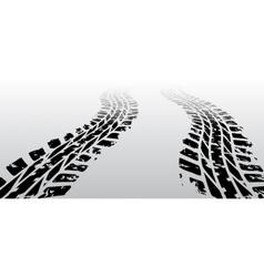 Zig zag tire track vector